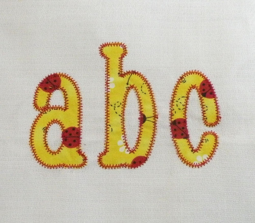Chachie Zig Zag Applique Machine Embroidery Font