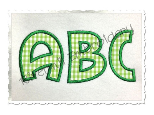 Surfer Applique Machine Embroidery Font Alphabet