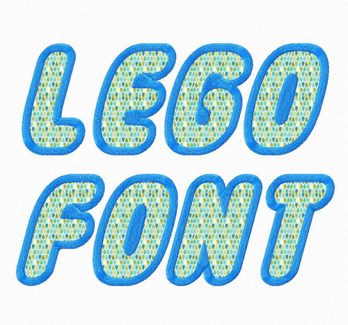 Lego Applique Machine Embroidery Font