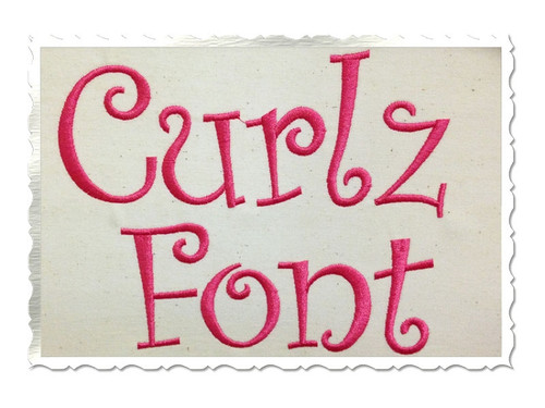 Curlz Machine Embroidery Font