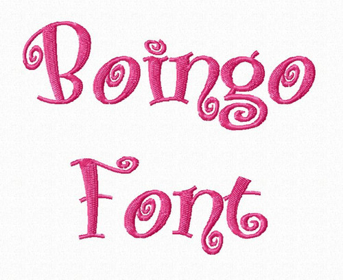 Boingo Machine Embroidery Font