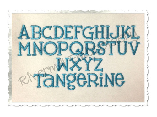 Tangerine Machine Embroidery Font