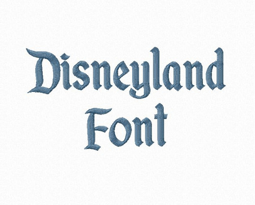 Disneyland Machine Embroidery Font