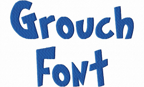 Grouch Machine Embroidery Font