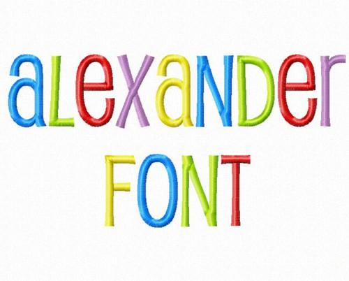 Alexander Machine Embroidery Alphabet