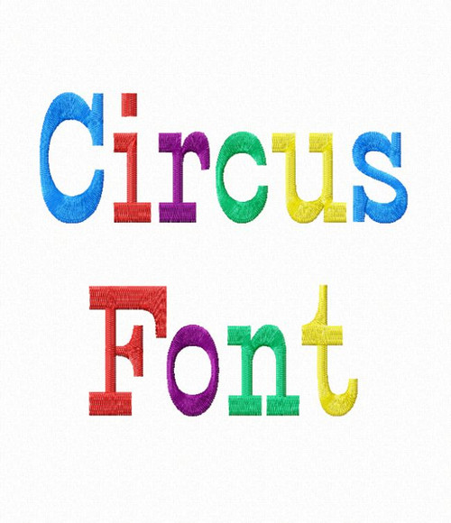Circus Machine Embroidery Font