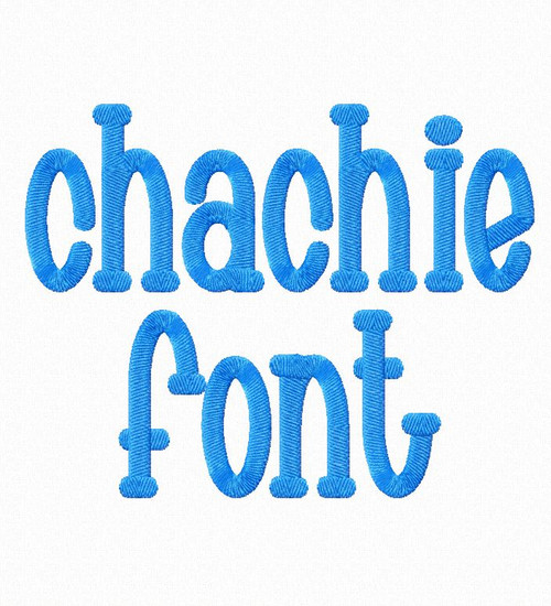 Chachie Machine Embroidery Font