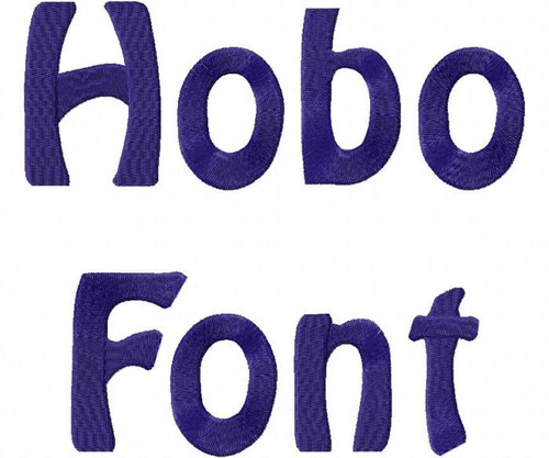 Hobo Machine Embroidery Alphabet Font