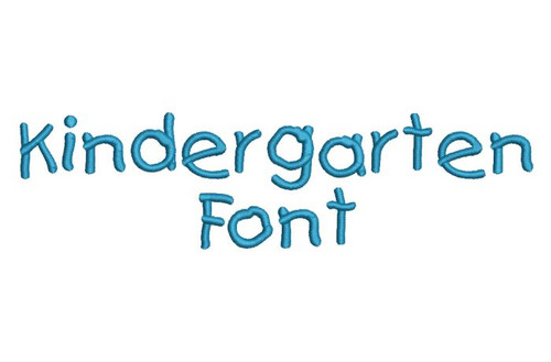 Kindergarten Handwriting Machine Embroidery Alphabet Font