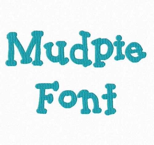 Mudpie Machine Embroidery Font