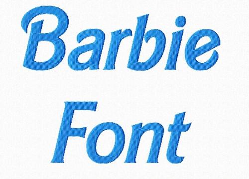 Barbie Style Machine Embroidery Alphabet