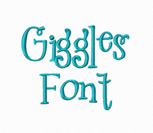 Giggles Machine Embroidery Font