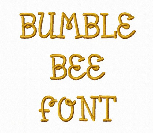 Bumble Bee Machine Embroidery Font