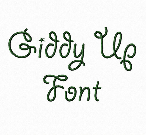 Giddy Up Machine Embroidery Font