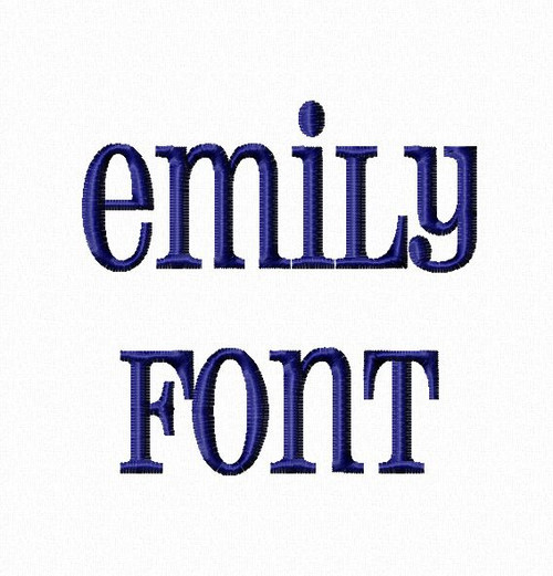 Emily Machine Embroidery Font