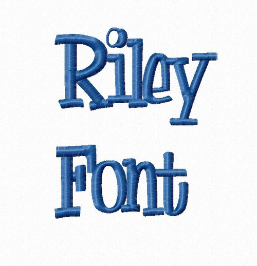 Riley Machine Embroidery Font