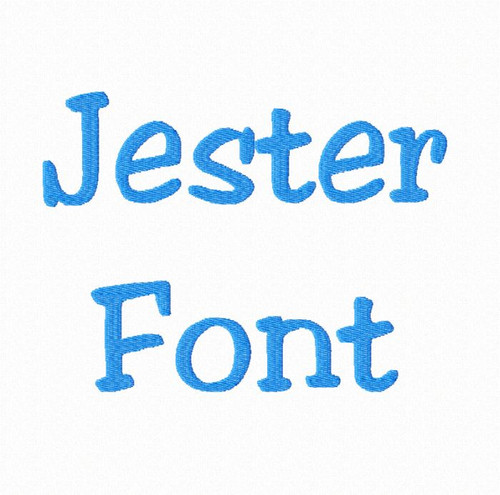 Jester Machine Embroidery Font