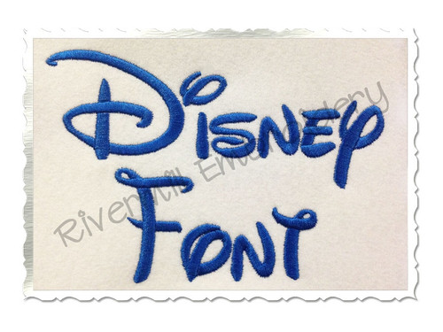 Walt Disney Machine Embroidery Font