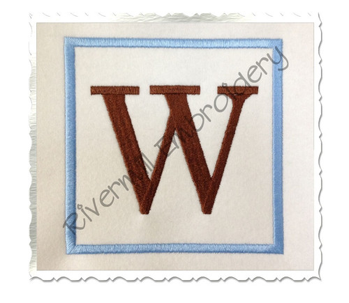 Square Initial Monogram Machine Embroidery Font
