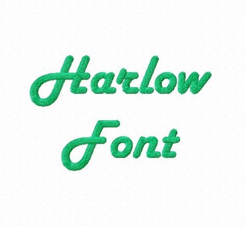 Harlow Machine Embroidery Font
