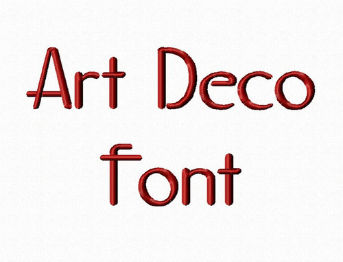 Art Deco Machine Embroidery Font