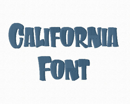 California Chunky Machine Embroidery Font