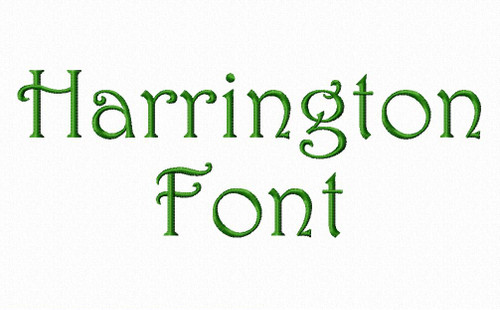 Harrington Machine Embroidery Font