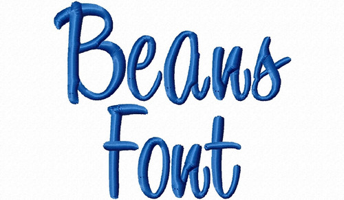 Beans Machine Embroidery Font