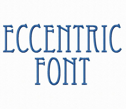 Eccentric Machine Embroidery Font