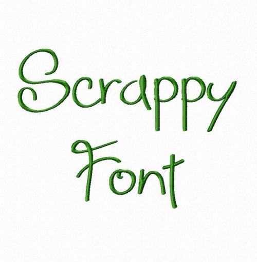 Scrappy Machine Embroidery Font