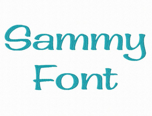 Sammy Machine Embroidery Font