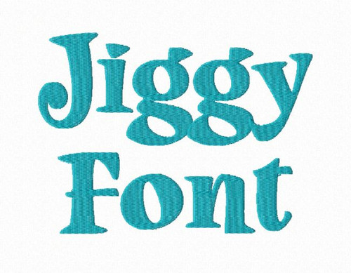 Jiggy Machine Embroidery Font