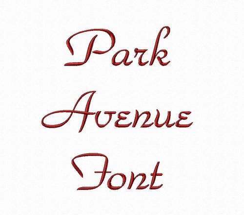 Park Avenue Machine Embroidery Font