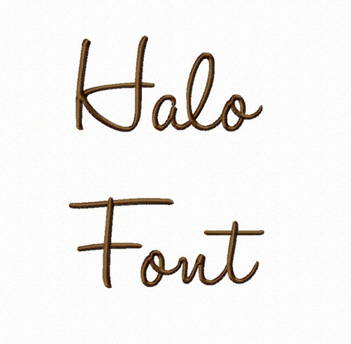 Halo Machine Embroidery Font