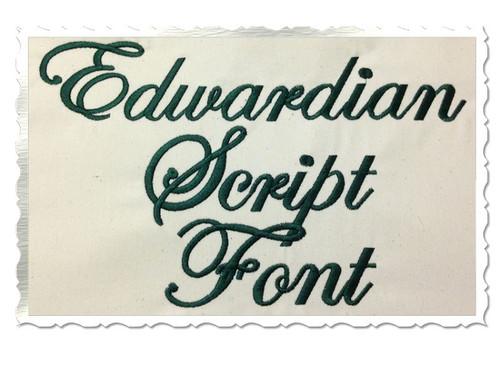 Edwardian Script Machine Embroidery Font