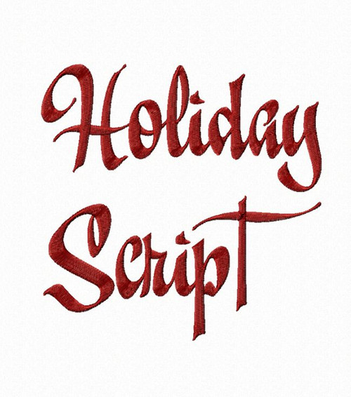 Holiday Script Machine Embroidery Font