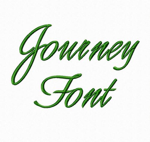 Journey Script Machine Embroidery Font