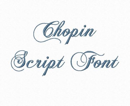 Chopin Script Machine Embroidery Font