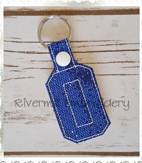 Letter O In The Hoop Snap Tab Key Fob Machine Embroidery Design