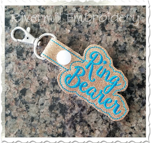 Ring Bearer In The Hoop Snap Tab Key Fob Machine Embroidery Design