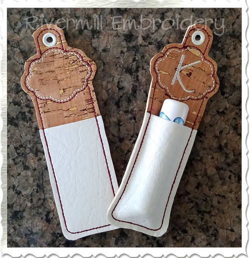 Blank Frame Chapstick Holder In The Hoop Eyelet Key Fob Machine Embroidery Design
