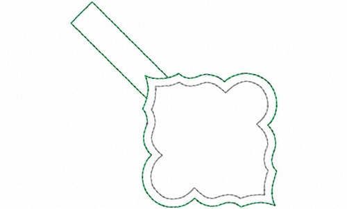 Blank Frame In The Hoop Snap Tab Key Fob Machine Embroidery Design