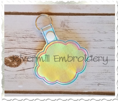 Blank Frame #3 In The Hoop Snap Tab Key Fob Machine Embroidery Design