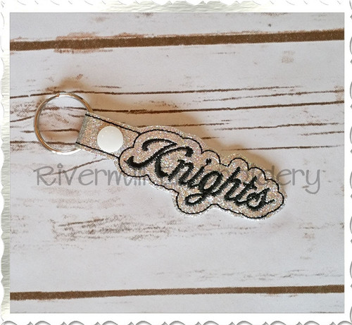 Knights In The Hoop Snap Tab Key Fob Machine Embroidery Design