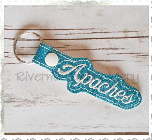 Apaches In The Hoop Snap Tab Key Fob Machine Embroidery Design
