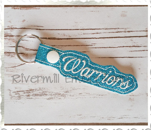 Warriors In The Hoop Snap Tab Key Fob Machine Embroidery Design