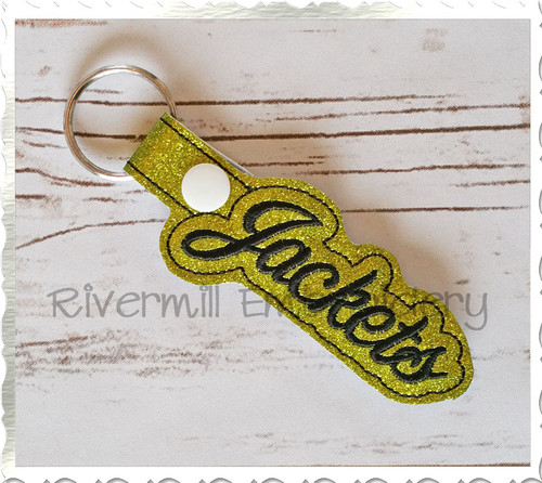 Jackets In The Hoop Snap Tab Key Fob Machine Embroidery Design