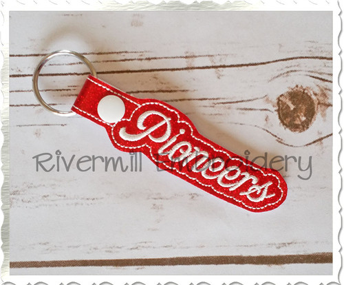 Pioneers In The Hoop Snap Tab Key Fob Machine Embroidery Design