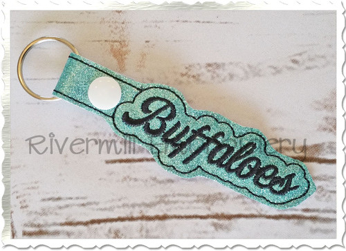 Buffaloes In The Hoop Snap Tab Key Fob Machine Embroidery Design