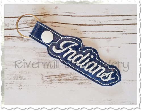 Indians In The Hoop Snap Tab Key Fob Machine Embroidery Design